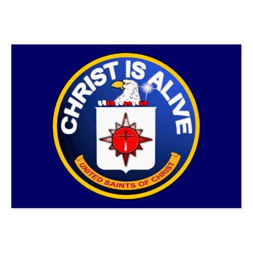Christus ist lebendige CIA-Ikone Flächen-Karten/ Visitenkartenvorlagen