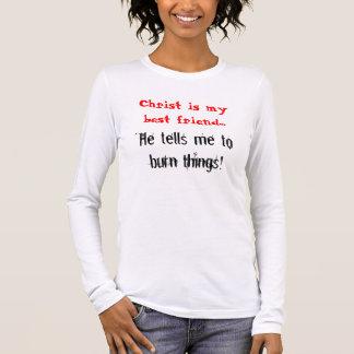 Christus ist mein bester Freund, bittet er mich zu Langarm T-Shirt