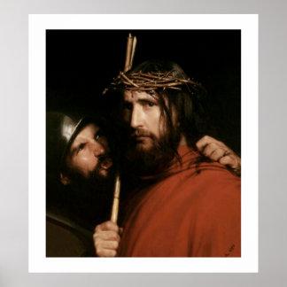 Christus mit den Dornen durch Karl Bloch. Plakat