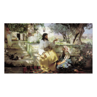 Christus mit Martha und Maria circa 1886 Visitenkarten