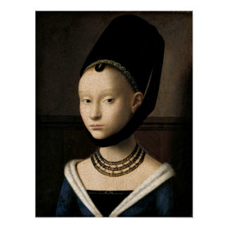 (Christus) Porträt eines jungen Mädchens Plakat