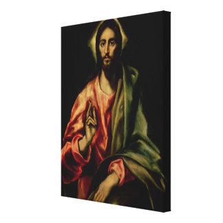 Christus-Segen Gespannter Galerie Druck