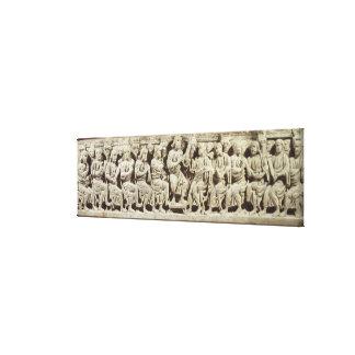 Christus setzte und das Unterrichten umgeben durch Galerie Gefaltete Leinwand