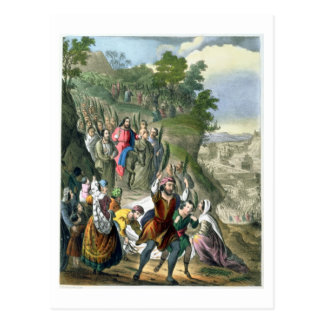 Christus Siegeseintritt in Jerusalem von einem Bi Postkarte