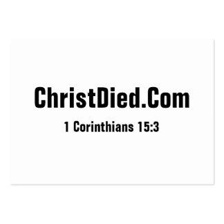 Christus starb mollig Mini-Visitenkarten