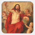 Christus Triumph über Sünde und Tod Quadratischer Aufkleber