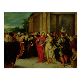 Christus und der Frau eingelassene Ehebruch Postkarte