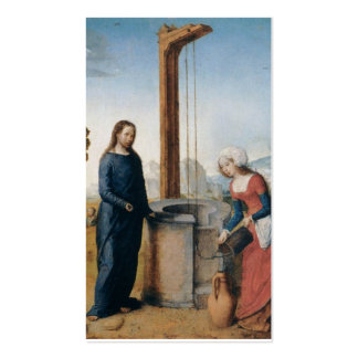 Christus und die Frau von Samaria C. 1500 Visitenkarten