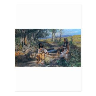 Christus- und Samariterfrau circa 1890 Postkarten