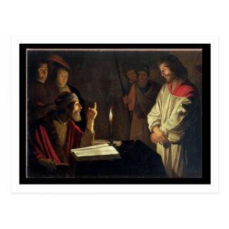 Christus vor Caiaphas Öl auf Leinwand Postkarten