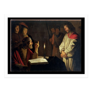 Christus vor Caiaphas (Öl auf Leinwand) Postkarte
