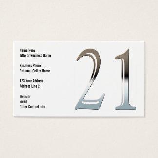 Chrom 21 visitenkarten
