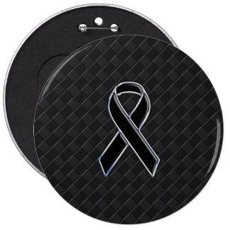 Chrom-Art-Schwarz-Band-Bewusstsein Runder Button 15,3 Cm