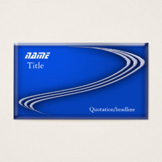 Chrom auf Blau Visitenkarten