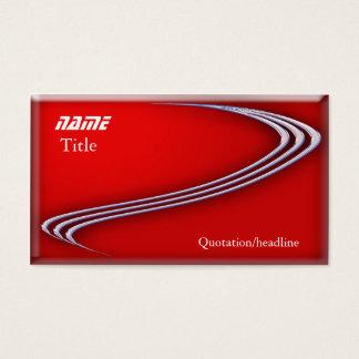 Chrom auf Rot Visitenkarte