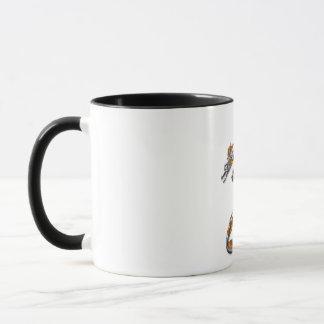 Chrom-Drache mit Flammen Tasse