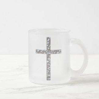 Chrom-Kruzifix-Körper Mattglastasse