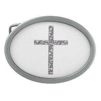 Chrom-Kruzifix-Körper Ovale Gürtelschnalle