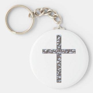 Chrom-Kruzifix-Körper Schlüsselanhänger