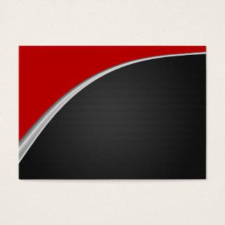 Chrom-Kurven-Rot Jumbo-Visitenkarten