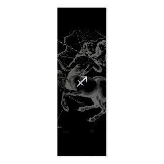 Chrom mag Schütze-Tierkreis-Zeichen Hevelius Dekor Mini-Visitenkarten