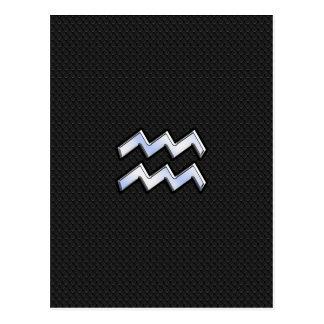 Chrom mag Wassermann-Tierkreis-Symbol auf Schlange Postkarte