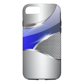 Chrom-Maschen-metallisches Sturzflugblau iPhone 8/7 Hülle