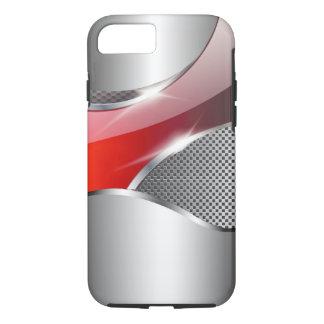 Chrom-Maschen-metallisches Sturzflugrot iPhone 8/7 Hülle