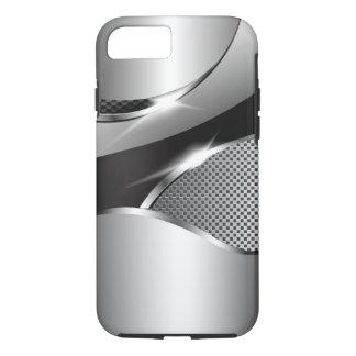 Chrom-Maschen-metallisches Sturzflugschwarzes iPhone 8/7 Hülle