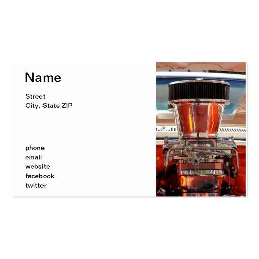 Chrom-Motor Visitenkarten Vorlage