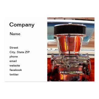 Chrom-Motor Mini-Visitenkarten