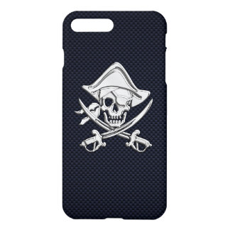 Chrom-Piraten-gekreuzte Knochen auf iPhone 7 Plus Hülle