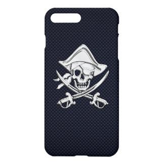 Chrom-Piraten-gekreuzte Knochen auf iPhone 8 Plus/7 Plus Hülle
