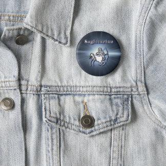 Chrom-Schütze Runder Button 5,1 Cm