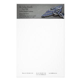 Chromberuflicher medizinischer Caduceus - Briefpapier