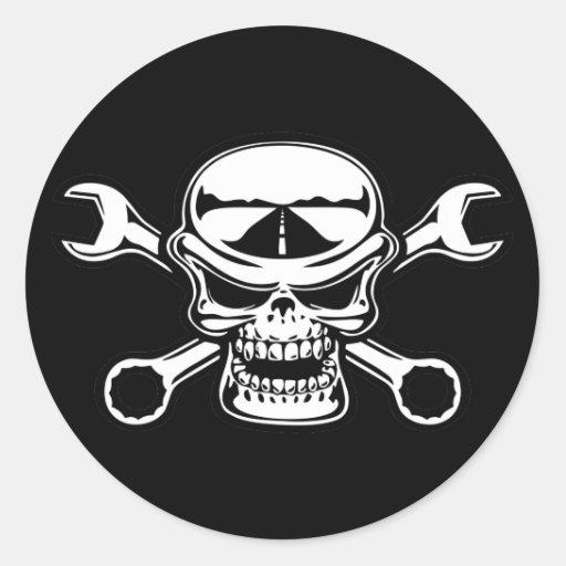 Chromeboy Kreuz-Schlüssel Runde Sticker