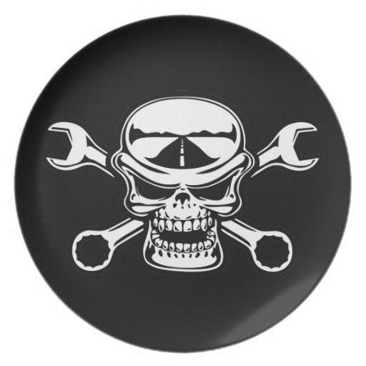 Chromeboy Kreuz-Schlüssel Party Teller