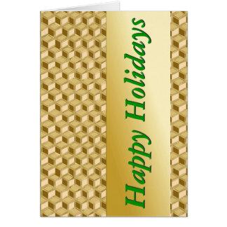 Chromieren Sie 3 d-Kästen - Gold u. Grün Karte