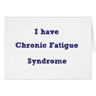 Chronische Ermüdungs-Syndromerklärungskarte Karte