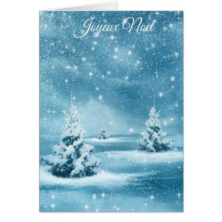 """Chrstmas Bäume """"Joyeux Weihnachtens"""" Karte"""
