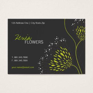 Chrysantheme-Blumen-elegante Blumengeschäfts-Karte Visitenkarte