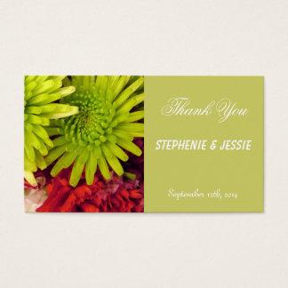 Chrysantheme-Blumen Visitenkarte