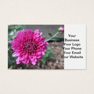 Chrysantheme-dunkelrote Blume Visitenkarte