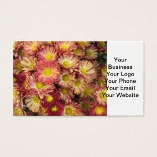 Chrysantheme-Gruppen-Garten-Gelb-Rosa Visitenkarte