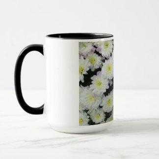 Chrysantheme-Gruppen-Garten-Weiß Tasse