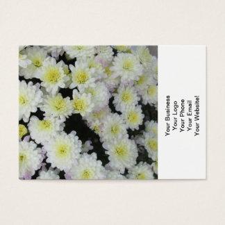 Chrysantheme-Gruppen-Garten-Weiß Visitenkarte