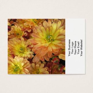Chrysantheme-Gruppen-Pflanzen-Gelb-Rot Visitenkarte