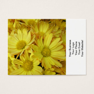 Chrysantheme-Gruppen-Pflanzen-Gelb Visitenkarte