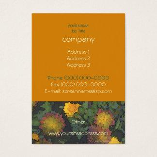 Chrysantheme-Herbst-Visitenkarte Visitenkarte
