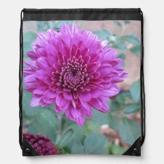 Chrysantheme-lila Blumen Turnbeutel